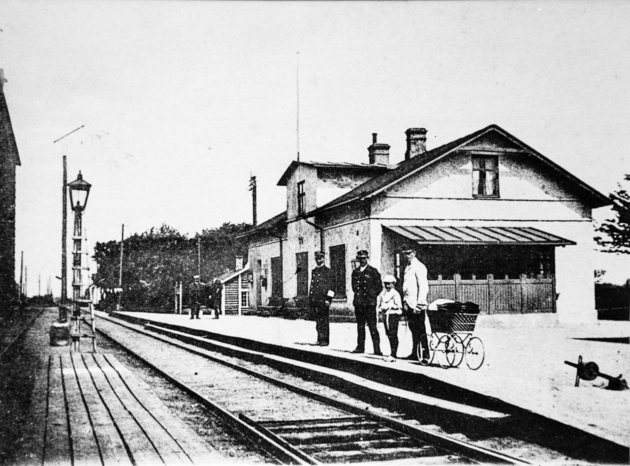 Tygelsjö järnvägsstation.